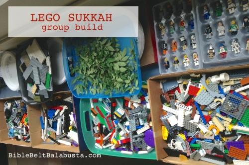 LEGO sukkah classroom trays