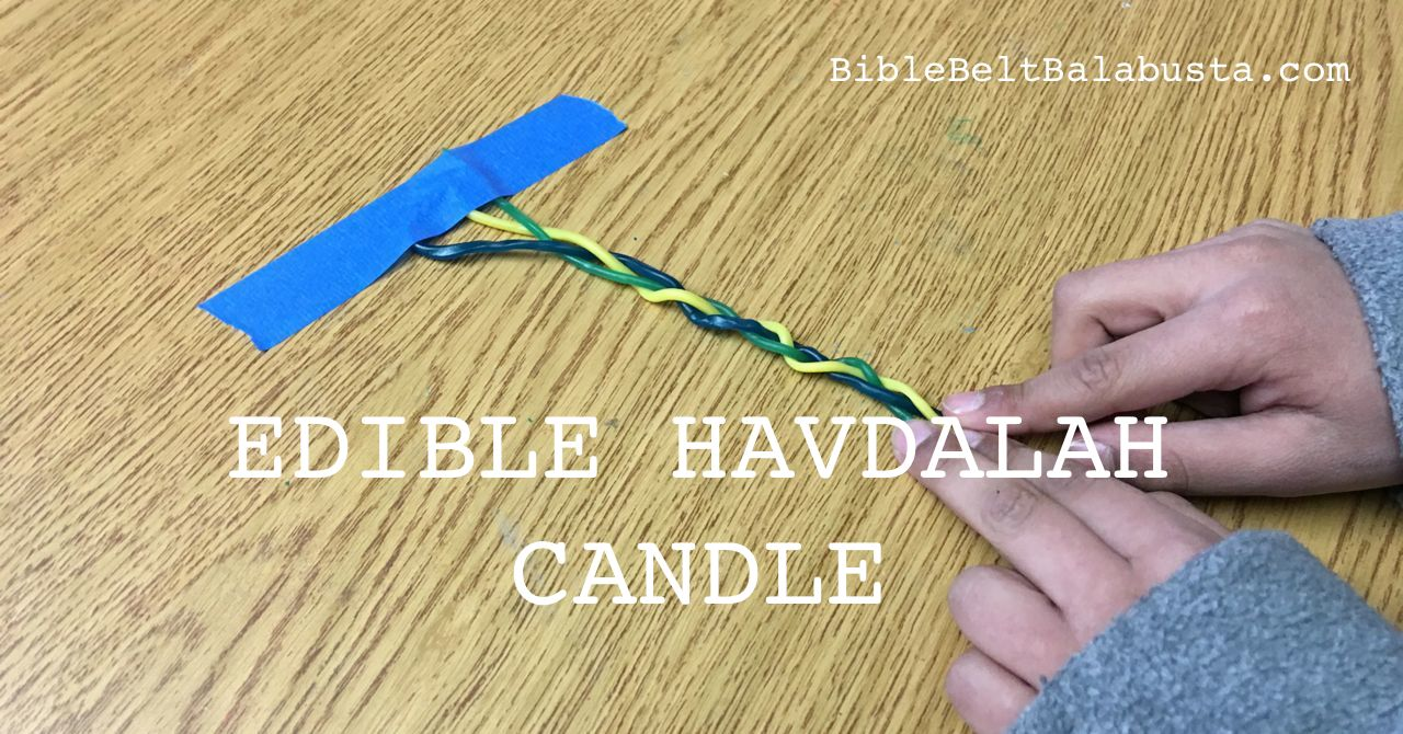 braiding candy havdalah candle