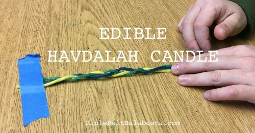 edible havdalah candle
